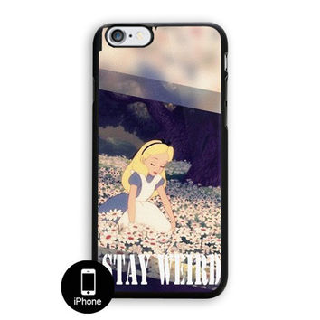 Stay Weird Alice In Wonderland Canvas iPhone 5, 5S Case