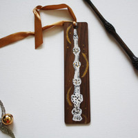 Elder Wand Wooden Bookmark
