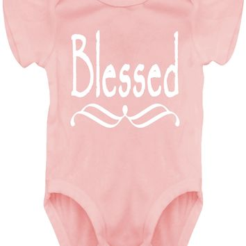 Baby Girl Blessed Bodysuits