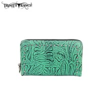 Montana West TR22-W003 Trinity Ranch Tooled Wallet