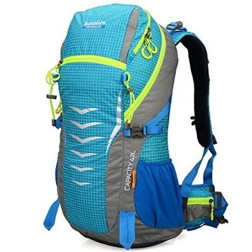 Doleesune 42l Internal Frame Pack for Women Camping Travel Outdoor Backpacks Hiking Daypacks Climbing Backpacking Bag Waterproof Mountaineering 1311