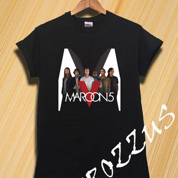 Maroon 5 Shirt Maroon 5 World Tour 2015 Concert Tshirt T-shirt Tee Shirt Black Color Unisex Size