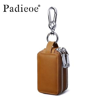 Leather Fashion Men Key Bag High Quality Key Organizer Housekeeper Coin Purse Men's Key Holder Wallet