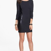 Frenchi® Faux Leather Panel Body-Con Dress (Juniors) | Nordstrom