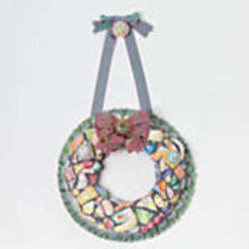 MacKenzie-Childs - Putty Shard Wreath - Light
