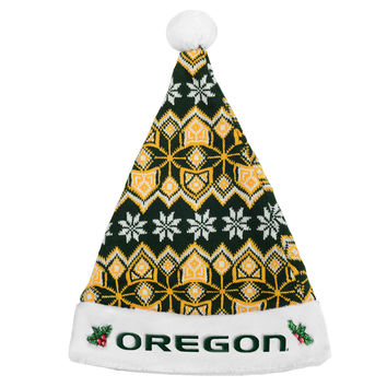 Oregon Ducks Knit Santa Hat - 2015