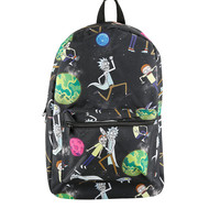Rick And Morty Universe Print Backpack