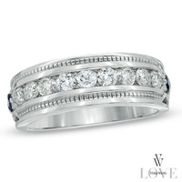 Vera Wang LOVE Collection Men's 1 CT. T.W. Diamond Wedding Band in 14K White Gold - View All Rings - Zales
