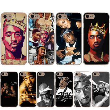 2Pac Tupac Shakur RAP Cover Case for Apple iPhone X 8 7 6 6S Plus 5 5S SE