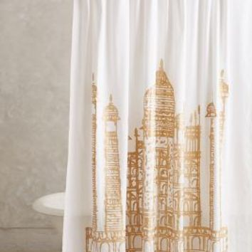 John Robshaw Taj Mahal Shower Curtain Yellow One Size Shower Curtains