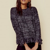 CLYDE FRINGE SWEATER