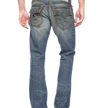 True Religion Hand Picked Straight Mega T Mens Jean - Forgotten Crossroads