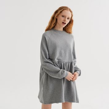 LO Basics Grey Oversized Sweater Dress - Clothing - New In - Womens