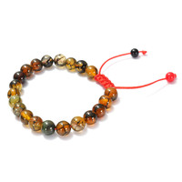 Men Bracelet Dragon Skin Agate Gem Tibet Buddhist Beads Jewelry