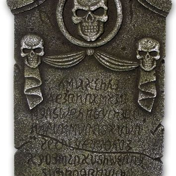 Enterprises - Skulls and Ribbon Tombstone
