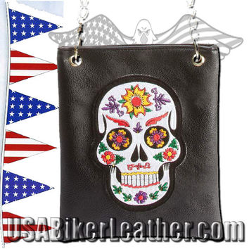 Casual Outfitters Ladies Sugar Skull Purse Handbag / SKU USA-LUPURSKL-BF