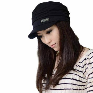 Best Deal Fashion Bouffancy Unisex Army Military Cap Flat  Top Hat Student Hat Vintage Navy Free Shipping 1pcs