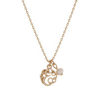 Gold Letter Monogram E Necklace