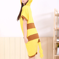 Pikachu Character Adult Spring and Summer Kigurumi Onesuit
