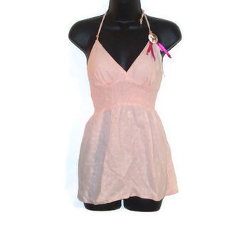 Light Pink Tank Top  Deer with Ribbons by AccursedDelights on Etsy