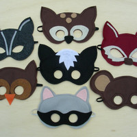 Woodland Masks Pack by Mahalo on Etsy