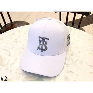 Burberry Tide brand embroidered letters for men and women models wild casual baseball cap #2