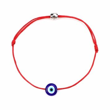 Turkish Lucky Evil Eye Bracelets For Women 6 Colors Handmade Braided Rope Lucky Jewelry Red Bracelet Female