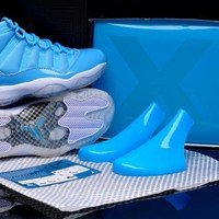 Air Jordan 11 Retro North Carolina Sport Basketball Shoe 5.5 13 | Best Deal Online
