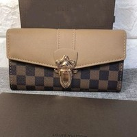 Louis Vuitton New Fashion Women Leather Purse Clutch Bag Handbag