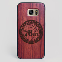 Philadelphia 76Ers Galaxy S7 Edge Case - All Wood Everything
