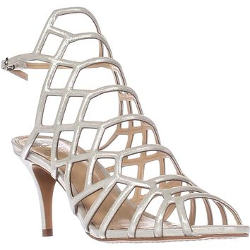 Vince Camuto Paxton Caged Dress Sandals, Earl Grey, 9.5 US / 39.5 EU
