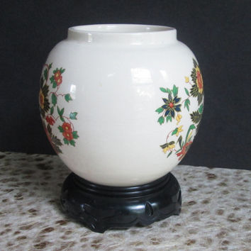 Floral Pottery Vase from Sadler of England 1950s Vintage