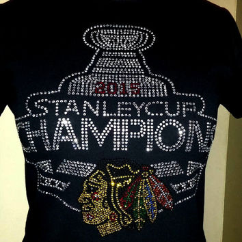 Chicago Blackhawks Long Sleeve 2015 Stanley Cup Champions Keepsake Shirt