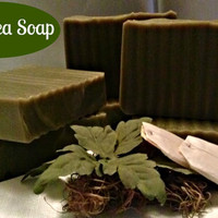 Green Tea Soap, Homemade Soap, Handmade Soap, Tea Tree Soap, Facial Soap, Moisturizing Soap, Herbal Soap, Vegan Soap, All Natural Soap, Acne