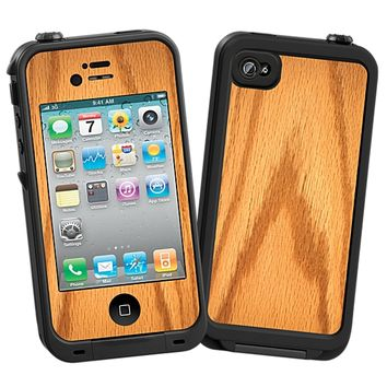 Red Oak Skin for the iPhone 4/4S Lifeproof Case by skinzy.com