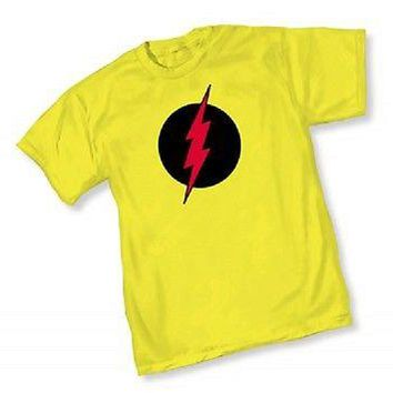 DC REVERSE FLASH SYMBOL Logo - YELLOW ADULT Licensed T-Shirt  S-2XL
