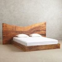 Live Edge Wood King Bed by Anthropologie Cocoa King Furniture