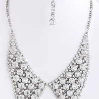 Round Crystal Collar Necklace