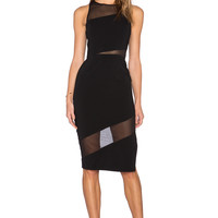 Jay Godfrey Avanti Dress in Black & Black