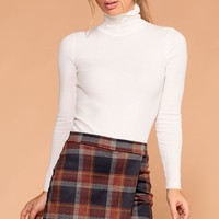 Kelly Burgundy and Navy Plaid Skort