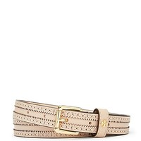 Tory Burch Skinny Brogue Belt
