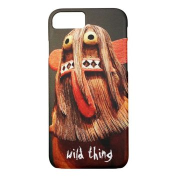 """""""Wild thing"""" cute funny face photo cell phone case"""