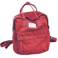 Womens Casual Lightweight Canvas Backpack School Bag