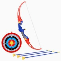 Kings Sport Toy Archery Bow And Arrow Set for Kids With Arrows, Target, and Quiver