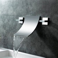 Sumerain Sumerain S1248CW Waterfall Wall Mounted Bathroom Sink Faucet Blowout Deals