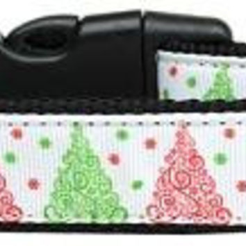 Fancy Schmancy Christmas Tree Nylon Dog Collar Medium