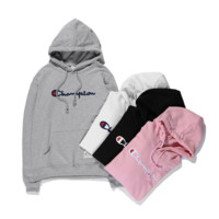 Champion Long Sleeve Embroidery Hooded Sweater