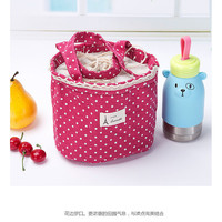 Buy Eranso Dotted Canvas Lunch Bag | YesStyle