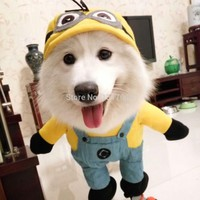 Winter Large Size Pet Dog Costume Puppy Clothes Hoodies Cartoon Cheap Dog Coat Minion Small Dog Cat Clothing Chihuahua 2
