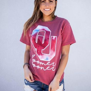 Tie Dye OU comfort colors t-shirt